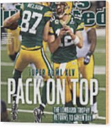 Green Bay Packers Vs Pittsburgh Steelers, Super Bowl Xlv Sports Illustrated Cover Wood Print