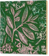 Green Composition Wood Print