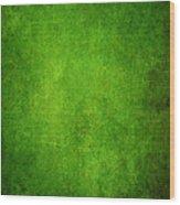 Green Grunge Background Wood Print