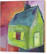 Green House- Art By Linda Woods Wood Print