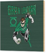 Green Lantern Wood Print