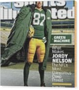Green Machine What Makes Jordy Nelson The Nfls Most Sports Illustrated Cover Wood Print