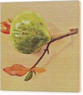 Green Pomegranate Wood Print