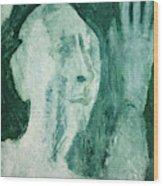 Green Portrait Wood Print