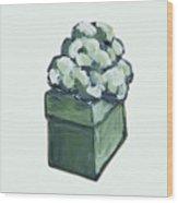 Green Present Wood Print