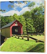 Green River Covered Bridge Wood Print