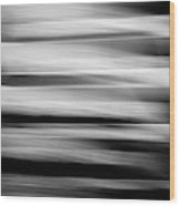 Abstract Waves Wood Print