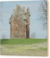 Greenknowe Tower Ruin Wood Print