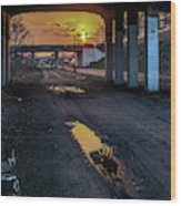 Greenway Sundown Wood Print