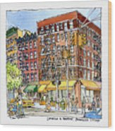 Greenwich Village Laundromat Wood Print