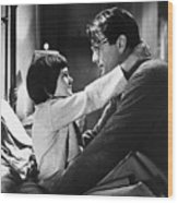 Gregory Peck And Mary Badham In To Kill Wood Print