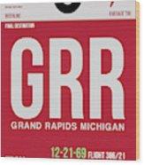 Grr Grand Rapids Luggage Tag II Wood Print