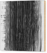 Grunge Black Paint Brush Stroke Wood Print