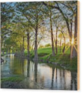 Guadalupe River Sunset Wood Print