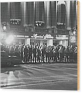 Guarding The Hilton During The 1968 Dnc Wood Print