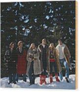 Guests At The Furstenberg Villa Wood Print