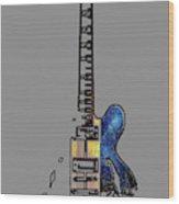 Guitar 4 Wood Print