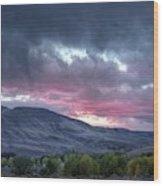 Gunnison Sunset Wood Print