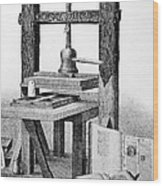 Gutenberg Printing Press Wood Print