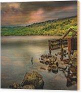 Gwynant Lake Old Boat House Wood Print