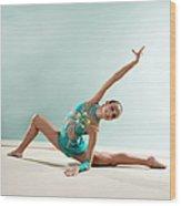 Gymnast, Smiling, Bending Backwards Wood Print
