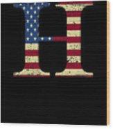 H Qanon Wwg1wga Usa Flag Group Q Anon Great Awakening Wood Print
