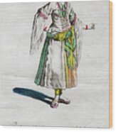 Habit Of A Lady Of Quality In Barbary Wood Print