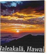 Haleakala Hawaii Wood Print