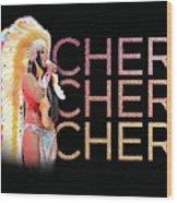 Half Breed Cher Wood Print