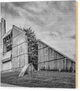 Halifax Explosion Memorial Bell Tower Bw Wood Print