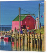 Halls Harbour Nova Scotia Wood Print