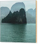 Halong Bay Mountains, Vietnam Wood Print
