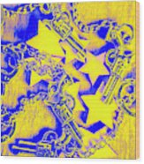 Handguns, Chains And Handcuffs Wood Print