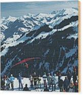 Hang Gliding Wood Print