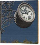 Hanging Clock Wood Print