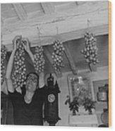 Hanging Tomatoes Wood Print