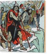 Hannibal Crossing The Alps, 218 Bc Wood Print