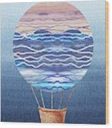 Happy Hot Air Balloon Watercolor Xxvi Wood Print
