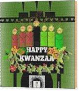 Happy Kwanzaa Wood Print