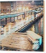 Harbor Area Wood Print