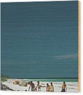 Harbour Isle Beach Wood Print