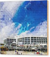 Hard Rock Beach Abstract Wood Print