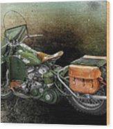 Harley Davidson 1942 Experimental Army Wood Print