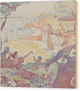 Harmonious Times By Signac Wood Print