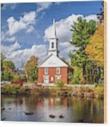 Harrisville, New Hampshire Church Wood Print