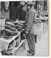 Harry Kregman, Owner Of Hats & Caps, At Wood Print