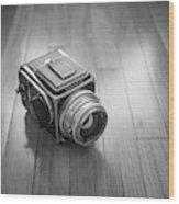 Hasselblad On The Floor Wood Print