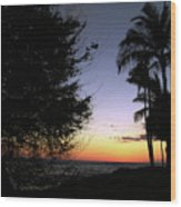 Hawaii Sunset Wood Print