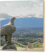 Hawk Overseeing Village. Wood Print