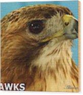 Hawks Mascot 3 Wood Print